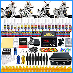 10 best starter tattoo kits best reviews now for Pirate face grinder tattoo kit