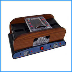 best tmg deluxe 2 deck wood card shuffler