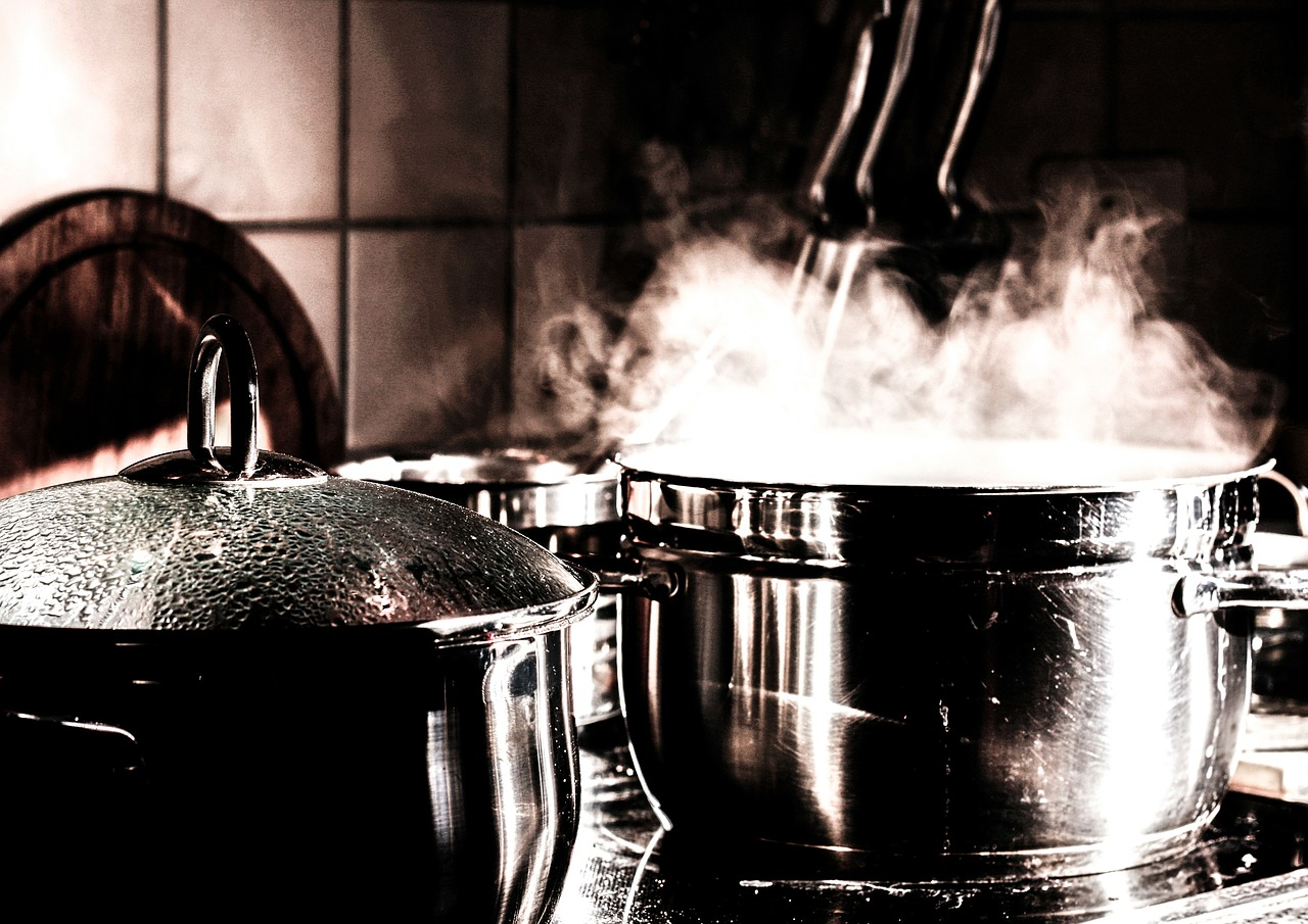 cooking on pot